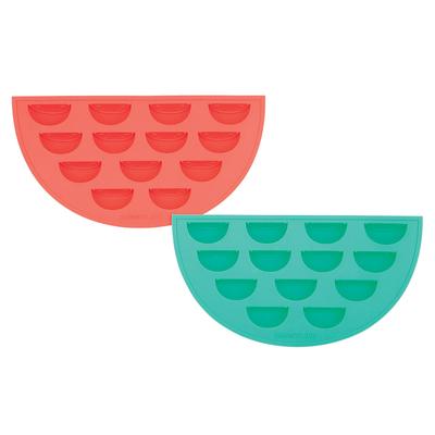 Lot de 2 bacs à glaçons rouge et vert Pastèque