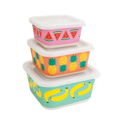 Lot de 3 lunch box multicolore Fruits