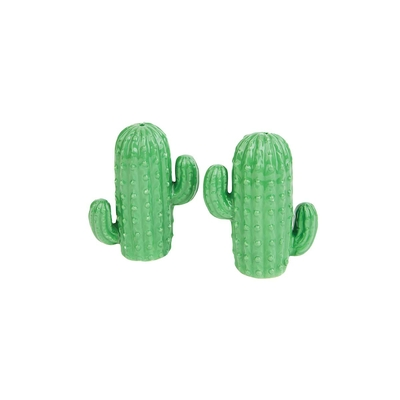 Salière et poivrière vert Cactus
