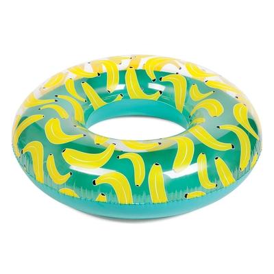 Bouée ronde gonflable multicolore Banane
