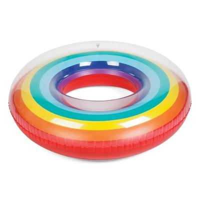 Bouée ronde gonflable multicolore Arc-en-ciel