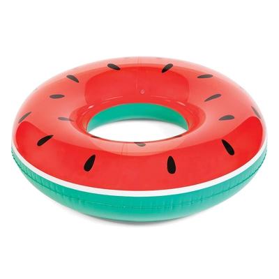 Bouée ronde gonflable rouge Pastèque