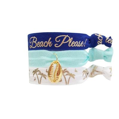 Lot de bracelets brésiliens bleus Palm Beach