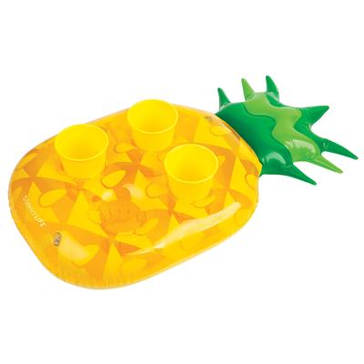 Mini bouée porte boissons jaune Ananas
