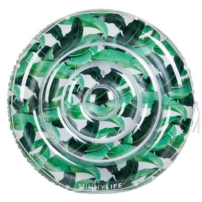 Bouée ronde gonflable verte Palmiers