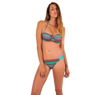 Maillot de bain 2 pièces bandeau multicolore Boho