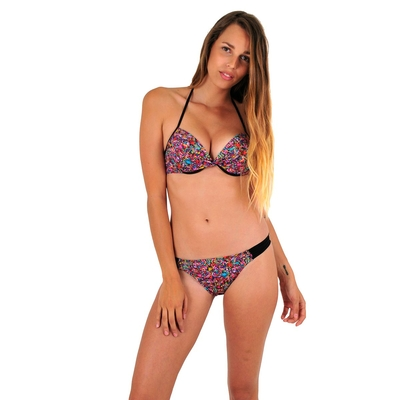 Maillot de bain 2 pièces push up multicolore Circle
