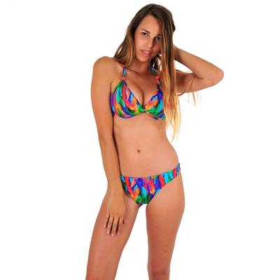 Maillot de bain 2 pièces tanga multicolore Coco