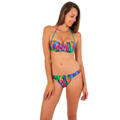 Maillot de bain 2 pièces bandeau multicolore Coco