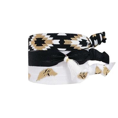 Lot de bracelets brésiliens noirs et blancs Venice