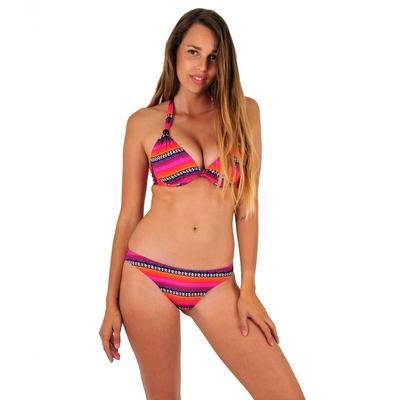 Maillot de bain 2 pièces tanga rose Surf