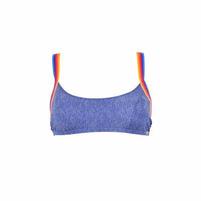 Teens - Maillot de bain brassière bleu jean Supercolor (Haut)