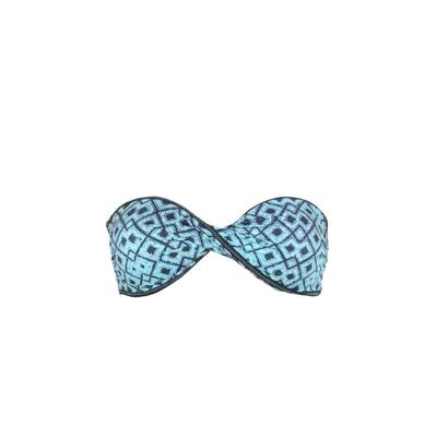 Maillot de bain bandeau twist bleu Slow (Haut)