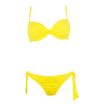Maillot de bain 2 pièces push-up jaune Unicool