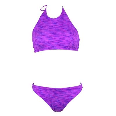 Maillot de bain 2 pièces brassière violette Chiné
