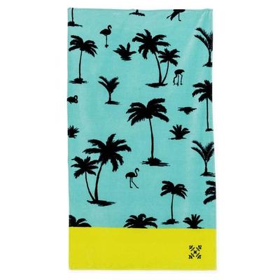 Serviette de plage bleu turquoise Toza