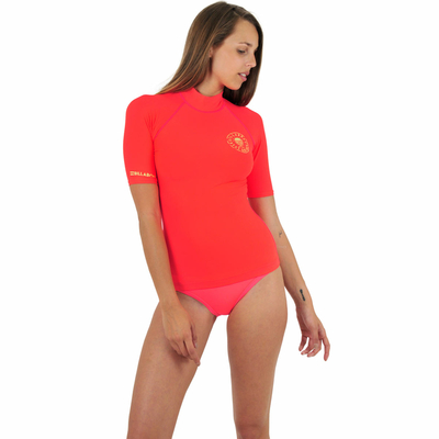 T-shirt de surf orange corail fluo