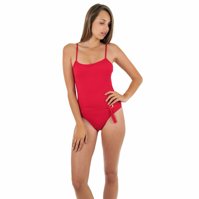 Maillot de bain une pièce ballerine rouge Abha