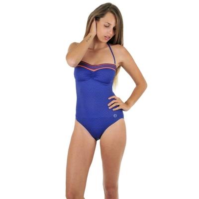 Maillot de bain une pièce bustier bleu Portofino