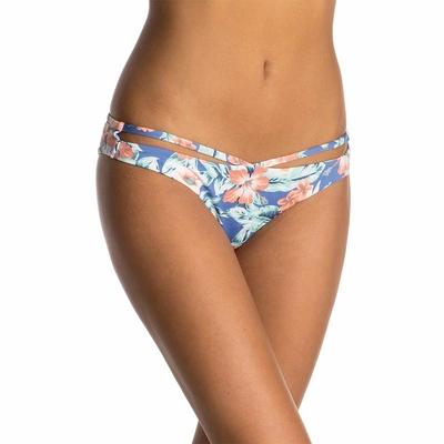 Maillot de bain culotte brésilienne bleue Mia Flores (Bas)