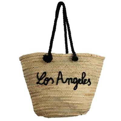 Panier de plage en osier noir Los Angeles