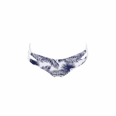 Maillot de bain culotte échancrée bleue Varo (Bas)