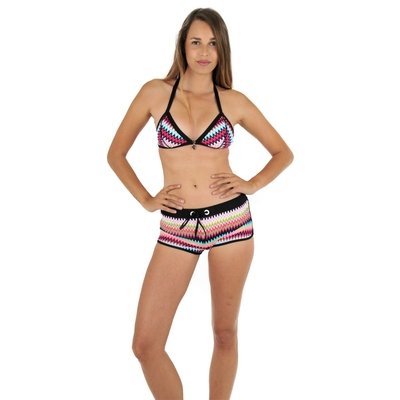 Maillot shorty rose Rai (Bas)