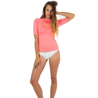 T-shirt lycra de surf rose Whole Hearted