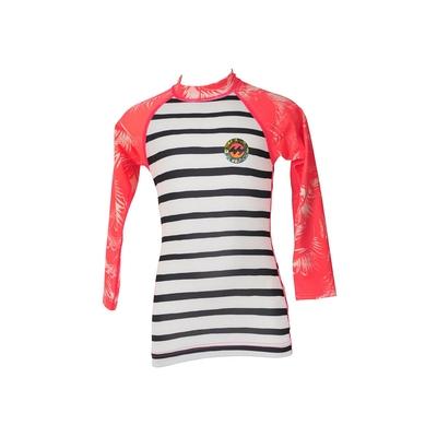 T-shirt de surf rose manches longues