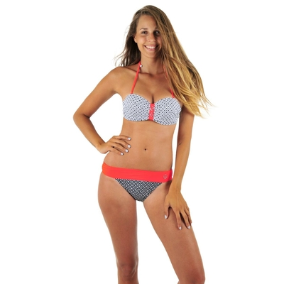 Maillot 2 pièces bandeau push up multicolore bonnet B Street