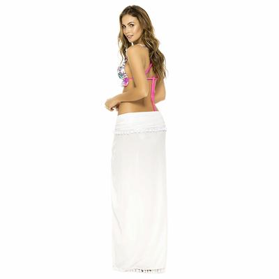 Pareo pompons Beachwear blanc