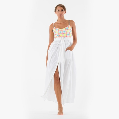 Robe de plage longue blanche Amberly