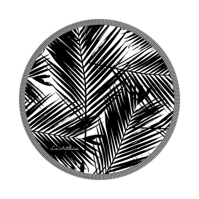 Serviette ronde l'éphémère noire