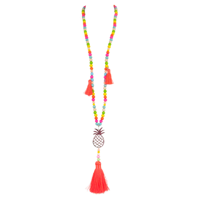 Collier pompon rose Ananas