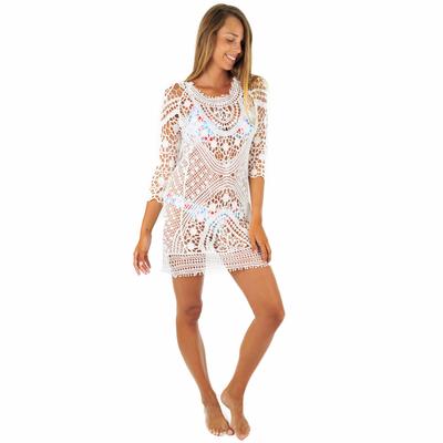 Tunique crochet blanche