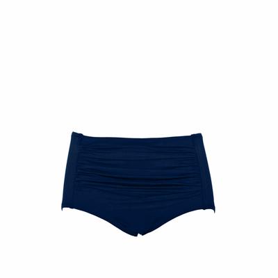 Culotte maillot de bain taille haute bleu indigo (Bas)