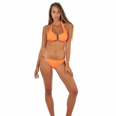 Maillot de bain 2 pièces triangle orange