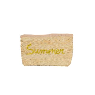 Pochette en osier summer gold