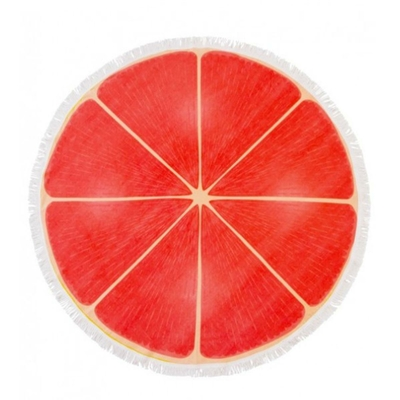 Serviette de plage ronde orange Grapefruit
