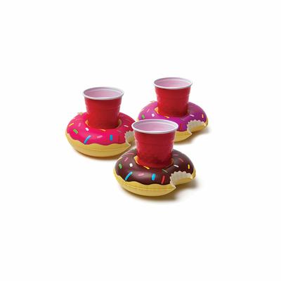 Lot de mini bouées porte boissons multicolores Donut