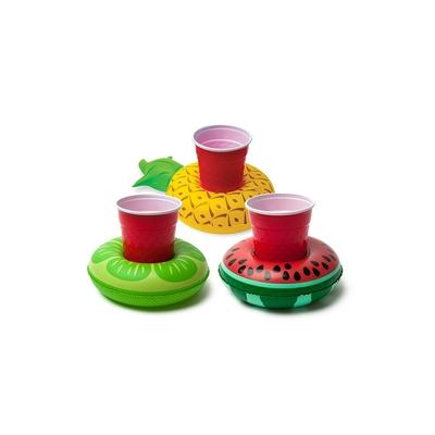 Lot de mini bouées porte boissons multicolores Fruits