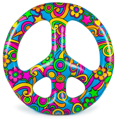 Bouée gonflable multicolore Giant Peace Sign