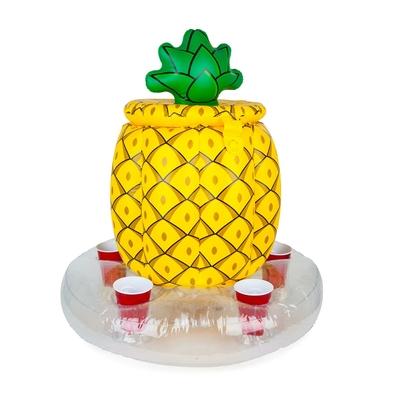 Glacière gonflable jaune Ananas