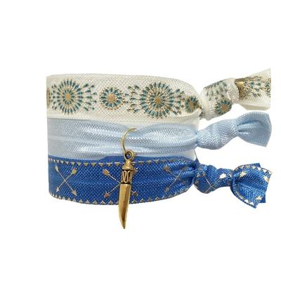 Lot de bracelets brésiliens bleus Key West