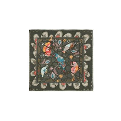 Petit foulard vert kaki Calliste mini