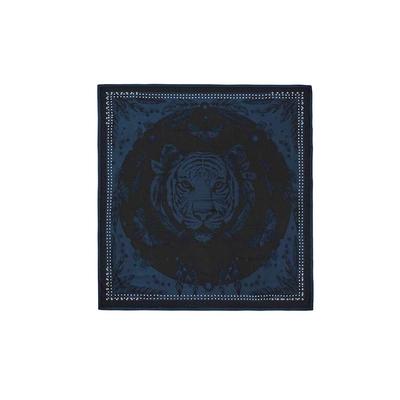 Petit foulard noir et bleu Mystic mini