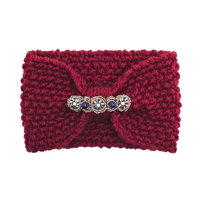 Headband rouge bordeaux Eileen