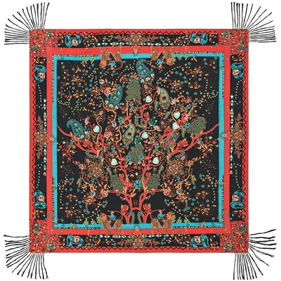 Foulard noir et rouge Indian