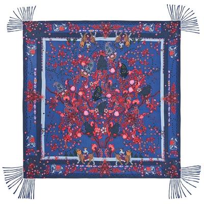 Foulard bleu Indian