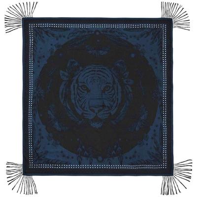 Foulard noir et bleu Mystic